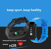 2016 New Sport Bluetooth Heart Rate Monitor Smart Bracelet Pedometer Tracking Calorie Health Smart Wristband Sleep Monitor H28