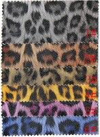 Tissu intérieur de la voiture, meubles imprimé léopard glitter similicuir, vêtement en cuir tissu, tissu en peau de mouton, 1210037