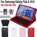 Etui na klawiaturę do Samsung Galaxy Tab A 10.5 2018 SM-T590 SM-T595 T590 T595 przypadku klawiatura do Samsung Tab A 10.5 pokrywa + klawiatura