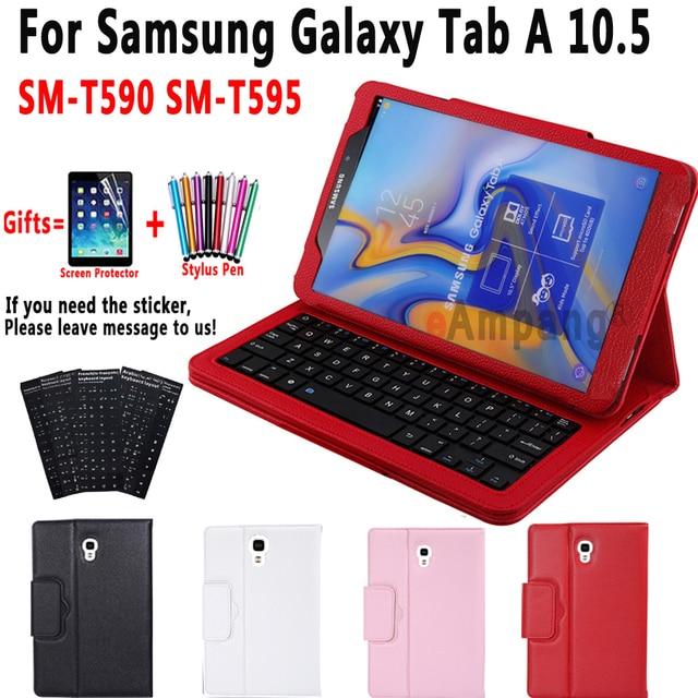 Keyboard Case for Samsung Galaxy Tab A 10.5 2018 SM T590 SM T595 T590 T595 Case Keyboard for Samsung Tab A 10.5 Cover + Keyboard