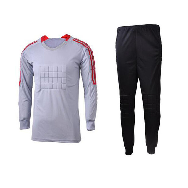 DIY personalizado equipo logo nombre Número de fútbol goal Keeper uniformes  portero traje Fútbol portero Jerséis 948de928411c2
