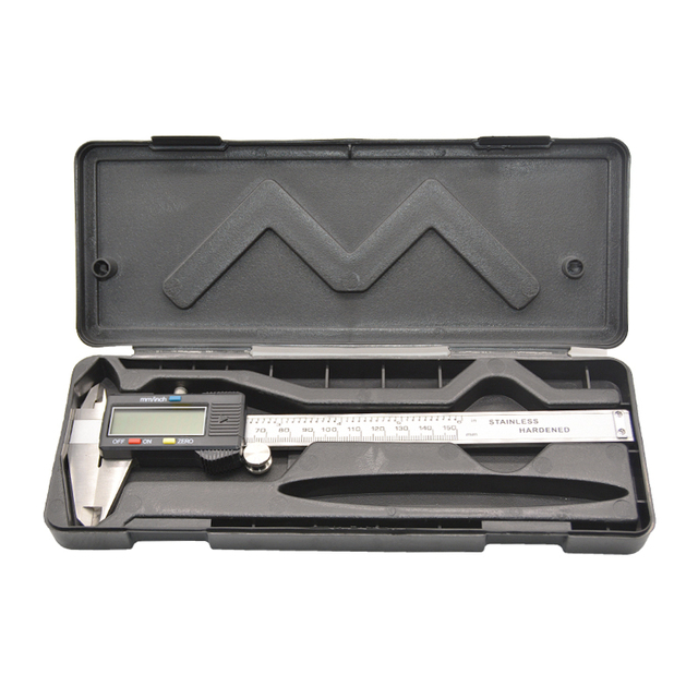 0-150mm Mess Werkzeug Edelstahl Digitale Sattel Messschieber paquimetro messgerät Messschieber 6 zoll