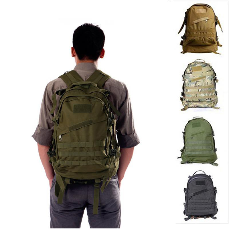 Outdoor Military Tactical Backpack Assault Pack Climbing Mountaineering Backpack for Camping Hiking Trekking Rucksack Travel Bag цена