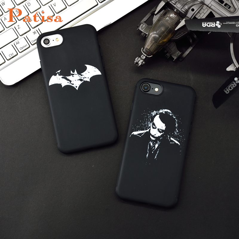 Clown Batman The Dark Knight Joker Fall Für <font><b>iphone</b></font> 6 6s 6plus 7 7plus Fällen Coque TPU silikon Weiche Für <font><b>iphone</b></font> 10X8 Plus <font><b>Funda</b></font> image