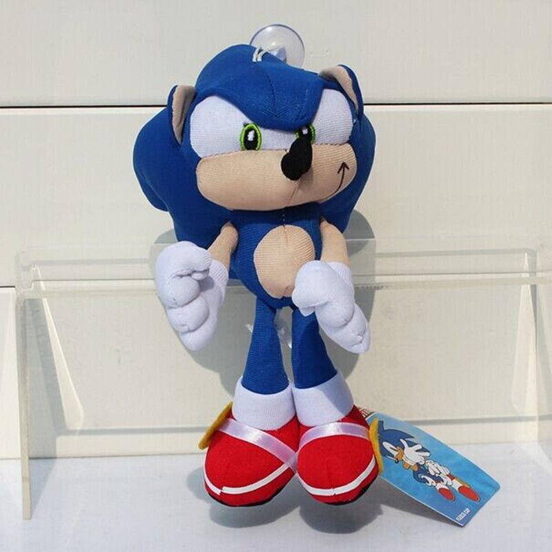 Sonic the Hedgehog Plush Doll 20cm Blue knuckles Stuffed Plush Dolls Kid Toys Free Shipping