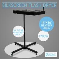 Vevor 16 x 16 Inch Flash Dryer 1700W Adjustable Stand T Shirt Curing Screen Printing Flash Dryer