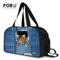 Forudesigns bagagem grande saco de viagem para as mulheres, senhoras 2017 animais cat duffel bag, saco de fim de semana para mulheres 3d sacos de viagem bolsa