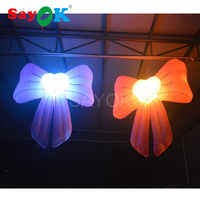 Hot Sale Beautiful Inflatable LED Hanging Bowknot Model Inflatable Balloon Lighting For Stage Party Decoration