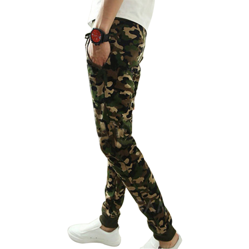 M-2XL 2016 Mens Jogger Autumn Pencil Harem Pants Men Camouflage Military Pants Loose Com ...