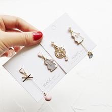 Korean Japan Anti-allergy Cute Cartoon Rabbit Bunny Clock 2019 Woman Dangle Drop Earrings Handmade Fashion Jewelry-JQD5 korean handmade pink irregular geometric anti allergy 2019 woman dangle drop earrings fashion jewelry holiday jqd5