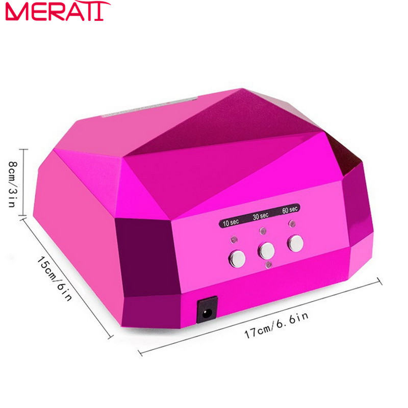2016 Limited Top Fashion Nail Art Tools Lamp Dryer Led Ultraviolet For Nails Diamond Shaped Curing For Uv Gel Polish 36w 2017 sale time limited ccc ce white lampara uv ultraviolet ultraviolet lamp 145w germicidal lamp electronic ballast