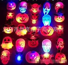 25 pcs série Halloween Suprimentos abóbora Glowing LED Piscando Broche Emblema Do Partido Presente Barato SS-6(China)