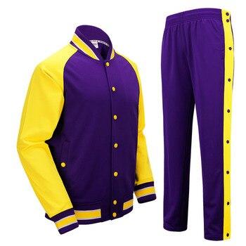 Masculina de Basquete Jersey Competição SANHENG Uniformes Ternos Botão Completa Calças Conjuntos de Roupas Esportivas de Basquete Personalizada 513AB