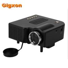 Gigxon-uc28 proyector led cinema theater pc y del ordenador portátil vga/usb/sd/av/hdmi blanco de entrada mini proyector de bolsillo