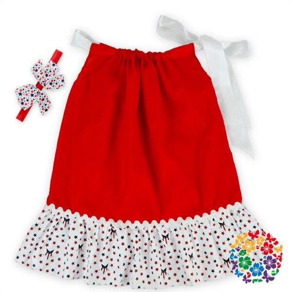 Newborn Children Boutique Clothing Stars Printed Pillowcase Dresses