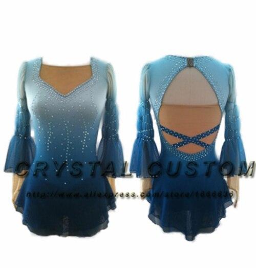 Offres Sp Ciales Robe Patinage Artistique Personnalis Pour Enfants Mode Nouvelle Marque Robes Sur Glace Les Filles Dr W889