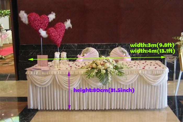 white table skirt wedding table decoration