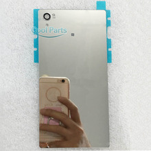 You Kit High Quality A+ Mirror Back Glass Rear Cover For Sony Xperia Z5 Premium 5.5inch Battery Door With Flashlight Sticker