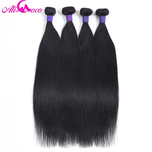 Image 2 - עלי קוקו ישר שיער פרואני רמי שיער חבילות 8 30 inch 100% שיער טבעי אריגת 1/3/4 חבילות צבע טבעי יכול להיות מסולסל