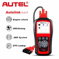 Autel Autolink AL619 ABS/SRS + CAN OBD2 Scan Tool Update Online Autel AL619 OBDII Scanner Auto Code Reader Scanner Automotive