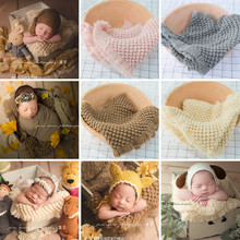 Newborn Photography Blanket Woven Pineapple Flokati Newborn Baby Photo Props Studio Baby Padding blanket Fotografia Accessories newborn photography blanket baby cotton blanket studio photo backdrop 130 165cm infant baby photography background accessories