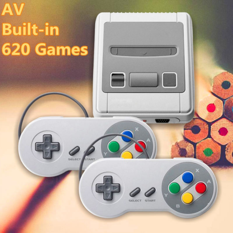 HDMI / AV Mini Retro TV Game Console 8Bit Classic Built-in 621 Games Controller HD two-player mini-game Consoles
