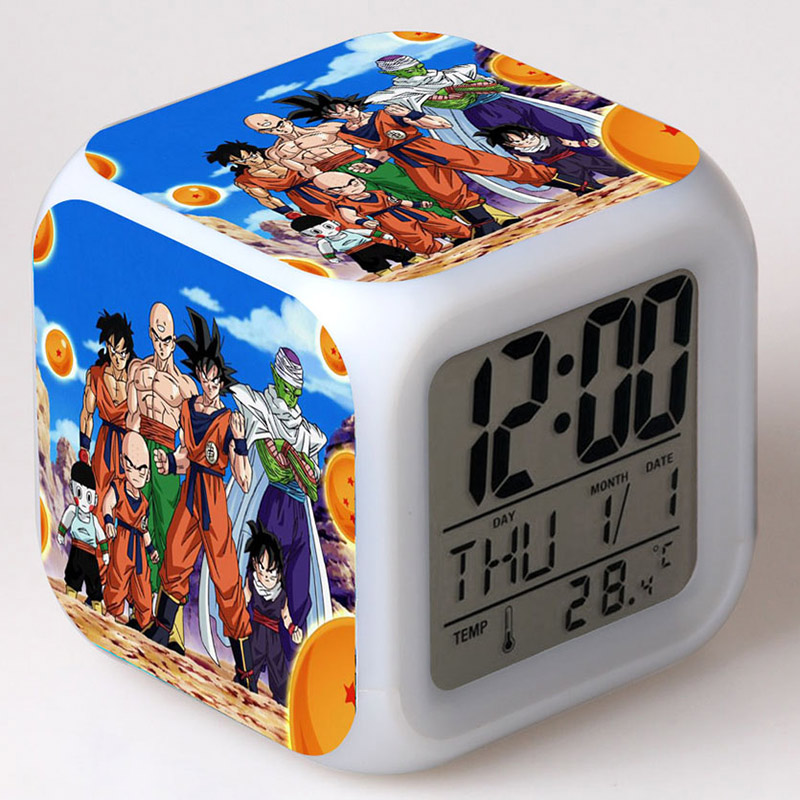 Dragon Ball Super Japanese TV Figma 7 Color Flash Changing Touch Light Alarm Clock Son G ...