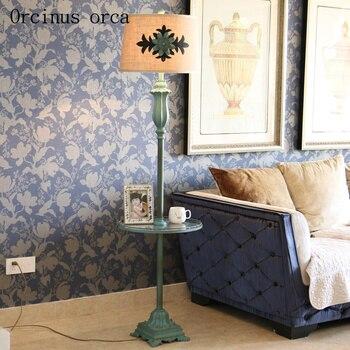 Американский стиль гостиная, Европейский стиль ретро спальня прикроватная Настольная лампа с журналом Настольный лоток настольная лампа