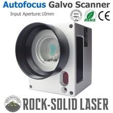 Автофокус Galvo сканирующая головка с автоматической фокусировкой контроллер волокно лазерная маркировочная машина 1064nm вход 10 мм SG2206 гальванометр