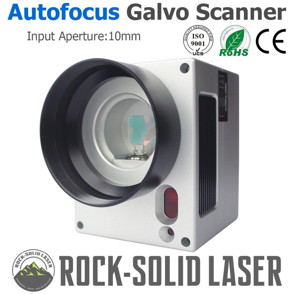 Messa a fuoco automatica Scanner Galvo Testa con Messa A Fuoco Automatica Controller di Fibra Macchina Per Marcatura Laser 1064nm di Ingresso 10 millimetri SG2206 Galvanometro