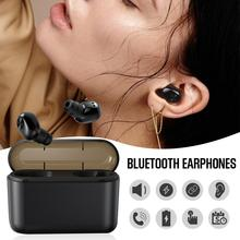 New BL1 TWS 5.0 Stereo Invisible Wireless Bluetooth Earphone With 1200/2200mAh Charging Box Dual Ears In-Ear Earbuds