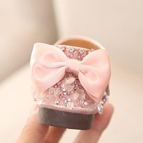 Sandals for Girls Summer Children Kids Baby Girls Bowknot Crystal Princess Sandals wedding shoes #TX4 Karachi