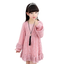 Spring Summer Kids Girls Costumes Dress Tops Dresses Long Sleeve 4 12 Y Baby Party One