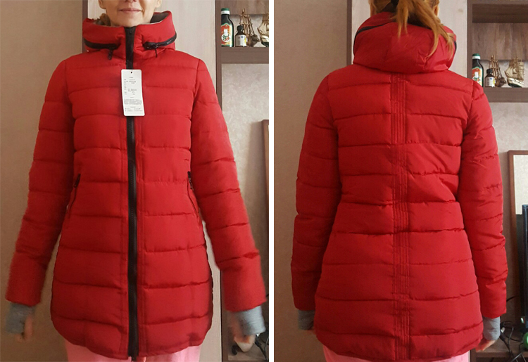 2019 women winter hooded warm coat slim plus size candy color cotton padded basic jacket female medium-long jaqueta feminina