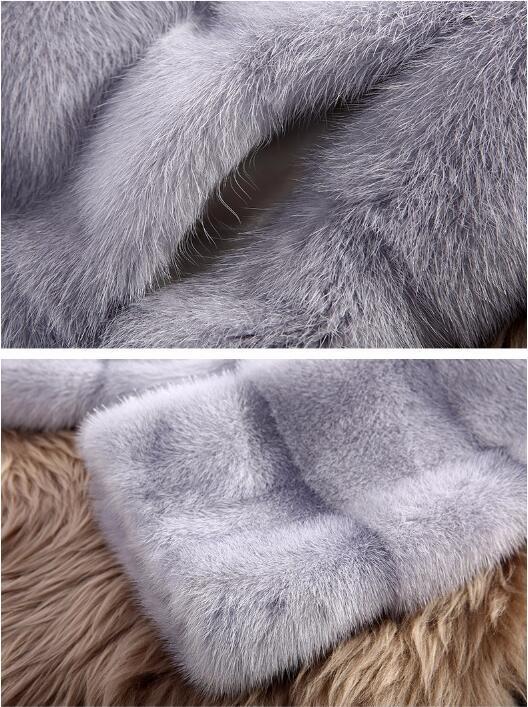 De Manteau Donna Fourrure Ciel Capuche noir Blanc Haute Outwear pu Qualité Plus Parka rose La Hiver D'hiver Pelliccia 2019 Vison Femmes gris Femme Avec Taille 8tnxt7A