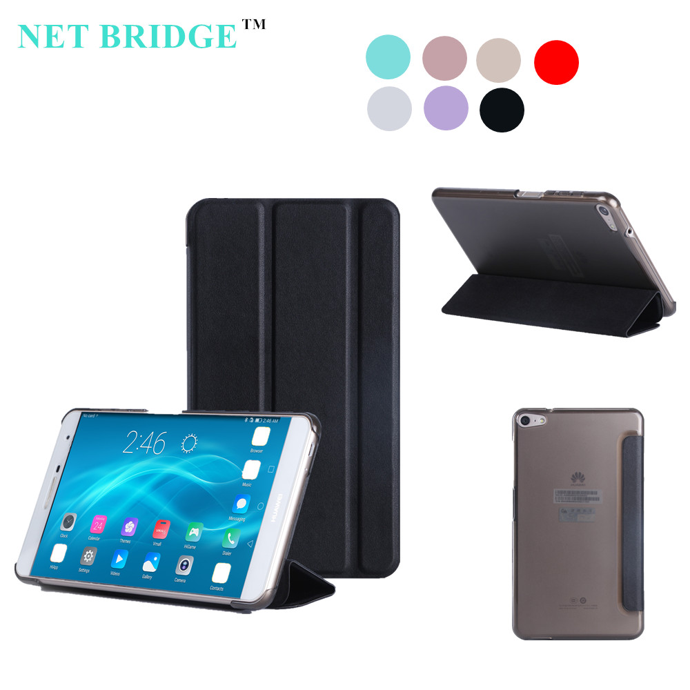 NET BRIDGE M2 Yougth PLE-703L Magnet Case For Huawei Mediapad T2 7.0 Pro Tablet Case +protector