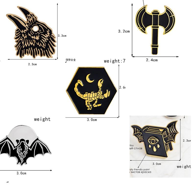 Black Bat enamel pin lapel badge