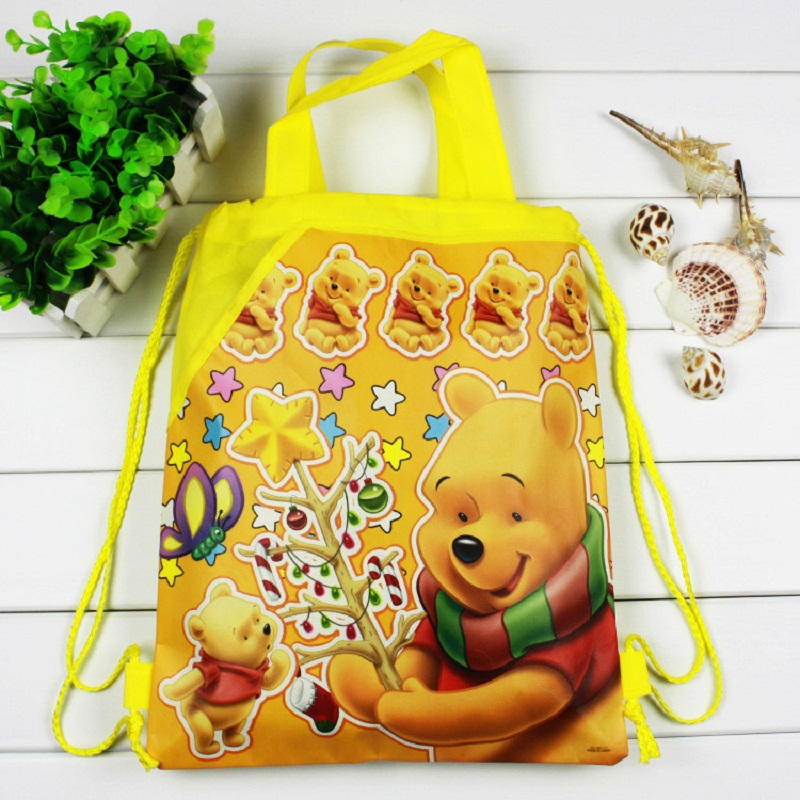 1 pieces / lot Winnie the Bear Kids Cartoon Drawstring Trainers for Boys, Children's Birthday Party Favor, Mochila School Child 4pcs lot winnie bear children cartoon drawstring school bags for boys kids birthday party favor mochila school kids backpack