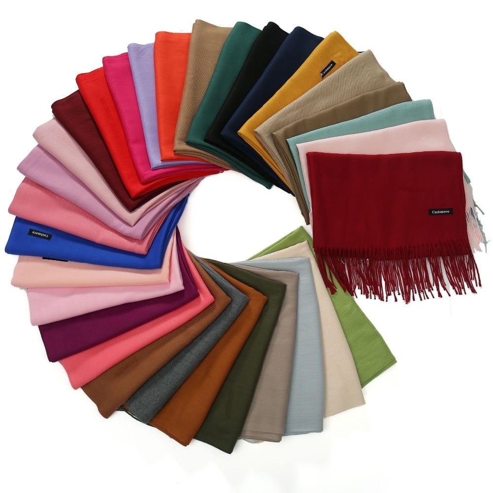 2018 Knitted Spring Winter   Scarf   Women Warm Cashmere   Scarves   Shawls Luxury Brand Neck Bandana Pashmina Lady   Wrap