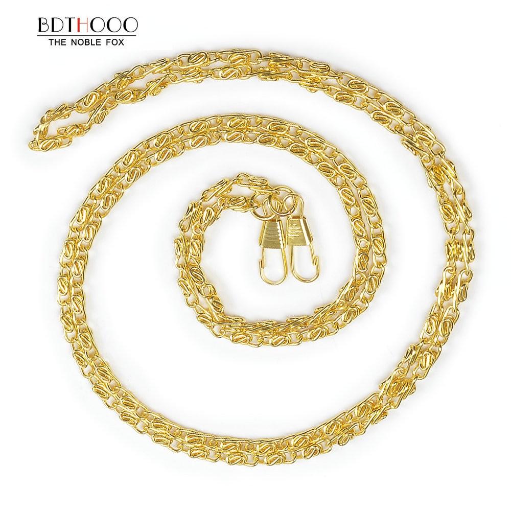 10pcs/lot 120cm Replacement Metal Chain For Shoulder Crossbody Handbag Antique Bronze Handle DIY Bag Strap Accessories Hardware