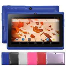 "Yuntab 7 ""Q88 Allwinner A33 Quad Core 1.5 GHz PC de la Tableta de 1024×600 Con Doble núcleo y de Doble Cámara de 2500 mAh (azul)"