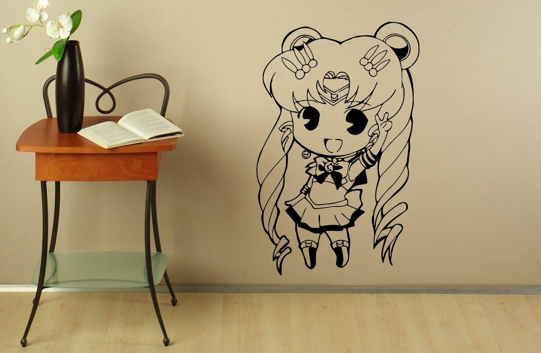 popular japanese interior decoration buy cheap japanese interior d243 sailor moon wall decal manga anime vinyl sticker japanese home interior bedroom decor mural door