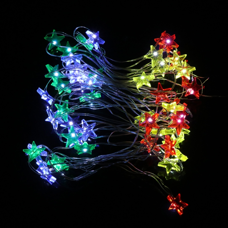 Fairy String 5M 50 LEDS Star Light Lamp Wedding Xmas Party Outdoor Room Decor