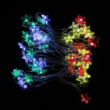 HNGCHOIGE 5m 50 LED Waterproof Stars Copper Wire Fairy String Lights Battery Operated Xmas Wedding Decor silent wire ac 50 ag powercord 1 5m