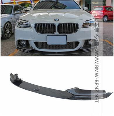 US $212 71 11% OFF|5 Series MP style Carbon Fiber Auto Front Bumper Lip  Spoiler For BMW F10 M Sport 2012 2016 Car Styling accessories-in Front &
