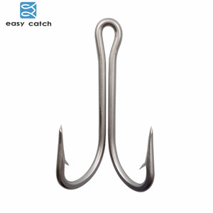 Easy Catch 10pcs 7982 Stainless Steel Double Fishing Hooks Big Strong Sharp Double Fishing Hook Size 4/0 5/0 6/0 7/0 8/0 9/0