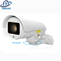 SSICON 2MP Bullet PTZ Camera IP 10X Zoom Lens 1080P 160 Degree Pan IP66 Waterproof Night Vision Outdoor PTZ IP Camera Onvif