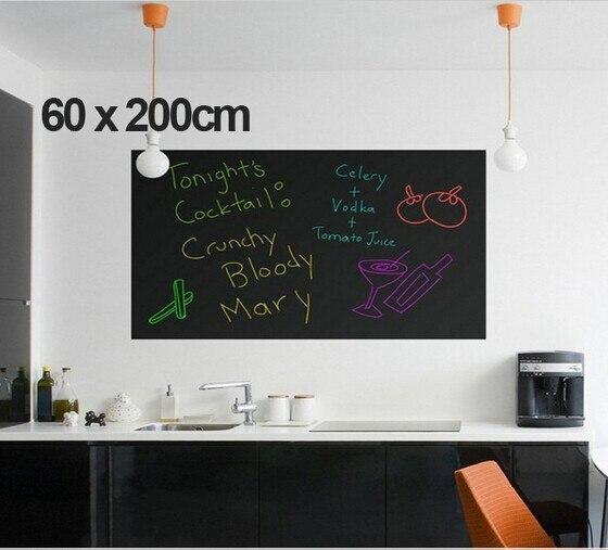 60x200cm DIY Chalk Board Blackboard Stickers Removable Vinyl Draw Decor Mural Decals Art Chalkboard Wall Sticker For Kids Rooms