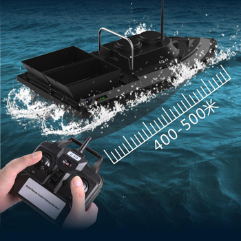Intelligent Remote Control Double Warehouse Feeding Bait Boat Fishing 500 Meters Long Distance Toy
