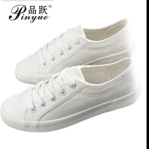 2018 Spring And Summer New White Shoes Women Fashion Flat Leather Canvas Shoes Female White Board Shoes Casual Shoes free shipping new spring and summer fashion men s denim jeans slim wear white pantyhose feet